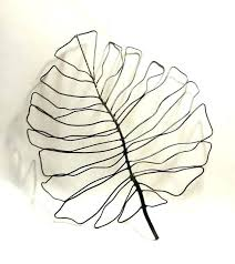 leaf wall art metal
