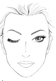 blank face template for makeup blank mac face charts makeup