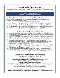 Resume Samples For Experienced Hr Professionals Refrence Mba Hr