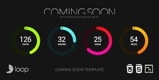 countdown templates loop animated coming soon countdown template coming soon