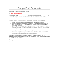 example email cover letters template example email cover letters