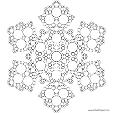 Dont Eat The Paste Snowflake Mandala To Color
