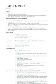 Program Specialist Resume New Double Major Resume Double Major On Resume New Customer Specialist