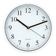 target wall clocks round plastic clock white atomic