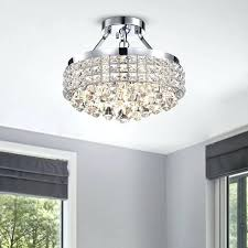 4 light crystal chandelier flush mount crystal chandelier new 4 light crystal chrome iron shade semi