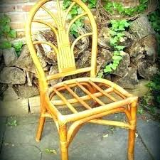 C Bamboo Rattan Furniture Vintage Chair Shop Chairs On  Side