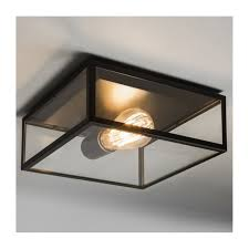 bronte vintage outdoor ceiling light in black finish 7388