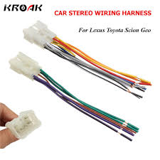 popular toyota stereo harness buy cheap toyota stereo harness lots Dual Cd Player Wiring Harness kroak car audio stereo radio cd player wiring harness dvd adapter plug for toyota lexus dual cd player wiring harness