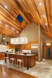 wood ceiling lighting. Wood Ceilings Give A Warm Look To Your Kitchen Ceiling Lighting E