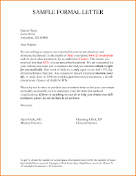 7 Formal Letter Format Examples Financial Statement Form