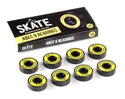skateboard bearings. skatewarehouse abec 9 skateboard bearings k