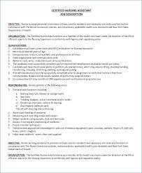 Cna Duties For Resume Resume Layout Com