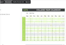 college calendar maker excel college schedule template online college schedule maker