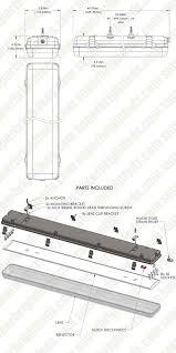 t8 led vapor proof light fixture for 4 led t8 s led light
