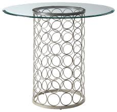 suri round glass top dining table champagne 36