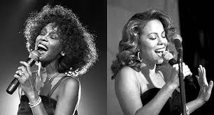 whitney black white. Whitney Houston Mariah Carey TheLavaLizard Black White