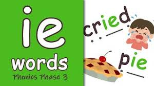 Jolly phonics s,a,t,i,p,n blending tutorial. Ie Words Phonics Phase 3 Youtube