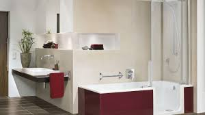 ... Bathtubs Idea, Soaking Tubs With Shower Deep Soaking Tub Shower Combo  Glossy Red Walk In