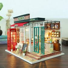 Последние твиты от kits&coffee (@kitsandcoffee). 3d Diy Wooden Puzzle Dollhouse Miniature Kit Coffee Shop Children Gift Toy Wish