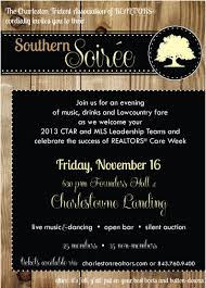 Auction Invitations Join Us For The Southern Soiree Charleston Trident Association Of