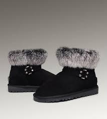 UGG Mini Fox Fur 5859 Black Boots
