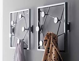 Design Coat Rack Wallmounted coat rack contemporary metal QUADRO by Tech 26