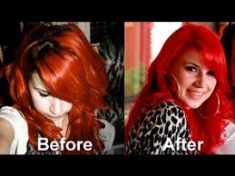 Bright Red Hair No Pre Bleaching Tutorial Using Majicontrast
