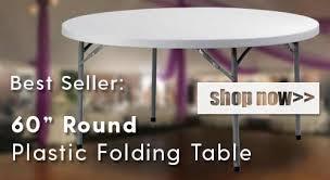 best er 60 inch round plastic folding table