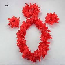 hawaiian flower lei headband anklet hula garland flower headband wreath birthday party supplies new year