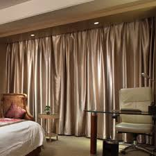 Good Blackout Champagne Soundproof Room Dividing Curtains