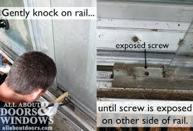 removing a sliding glass door knock on rail cost to replace sliding glass door rollers