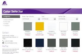 Alesta Powder Coating Color Selector