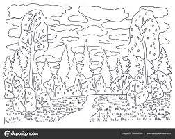 Natuur Kleurplaat Landschap