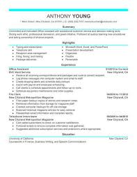 Resume And Cover Letter Office Assistant Resume Sample Sample