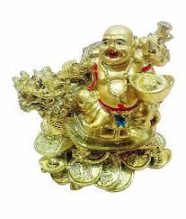 Odishabazaar Vastu Feng Shui Laughing Buddha Sitting On Dragon Tortoise
