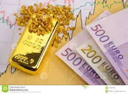 Gold Euro Chart Gold And Euro Stock Photo Image Of Concepts Isolated