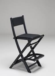 padded folding wooden salon chair personalise 1
