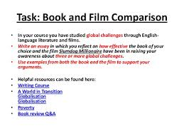 a guide to writing comparison essays task how to write a comparison between literature and film 2