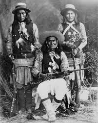 8x10 Native American Photo Three White Mountain Apache Indians With Rifles
