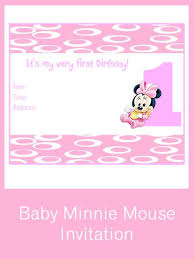 free minnie mouse invitation template 1st birthday invitations free printable myspar info