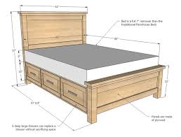 bed frame plans simple ideas