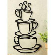 Metal Wall Decor For Kitchen New Coffee House Cup Java Silhouette Wall Art Metal Mug Kitchen