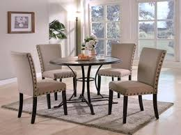 round dining room set for 4 contemporary round dining table set with 4 upholstered side chairs dining room set sims 4 cc