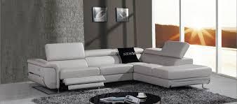 modern grey sofa divani casa e9054 modern grey leather sectional sofa w