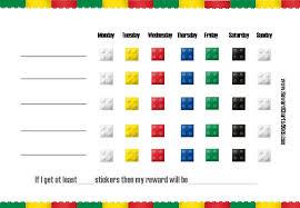 weekly reward chart printable lego charts