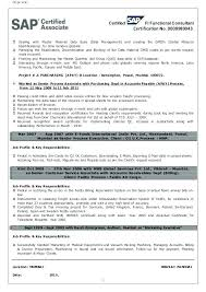 Sample Sap Consultant Cover Letter Sample Sap Consultant Cover