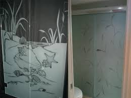etched glass shower etching designs for doors bathroom