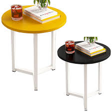 small round coffee table side table for living room vintage industrial style 11street malaysia tables