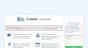 My Chart Access Visit Mychart Swedish Org Mychart Application Error Page