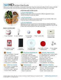 Food Portion Chart Webmd Portion Control Guide Food